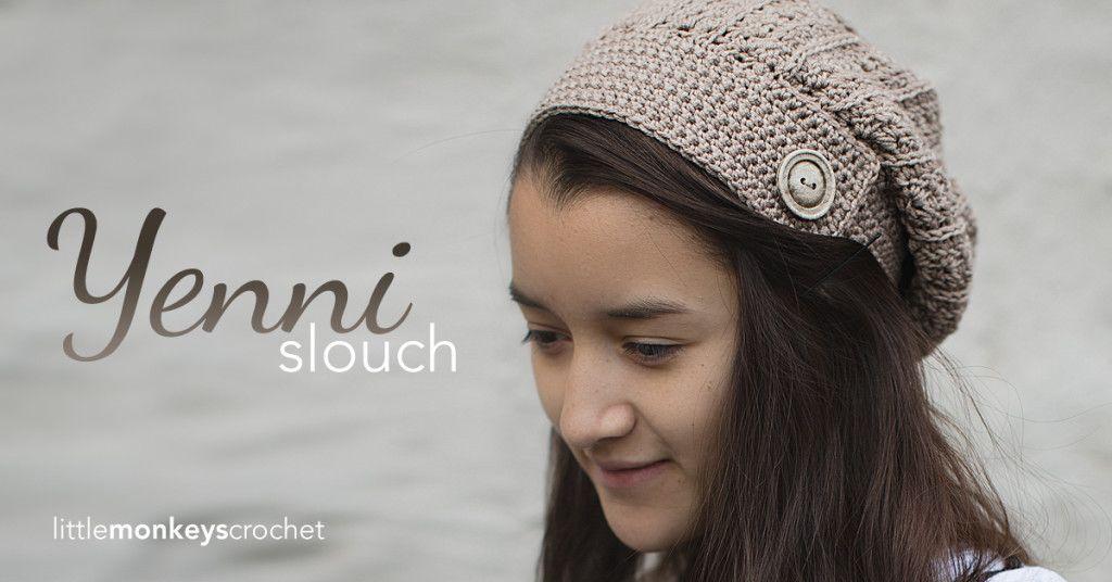 Yenni Slouch Hat | Gorros, Gorro tejido y Crochet patrones