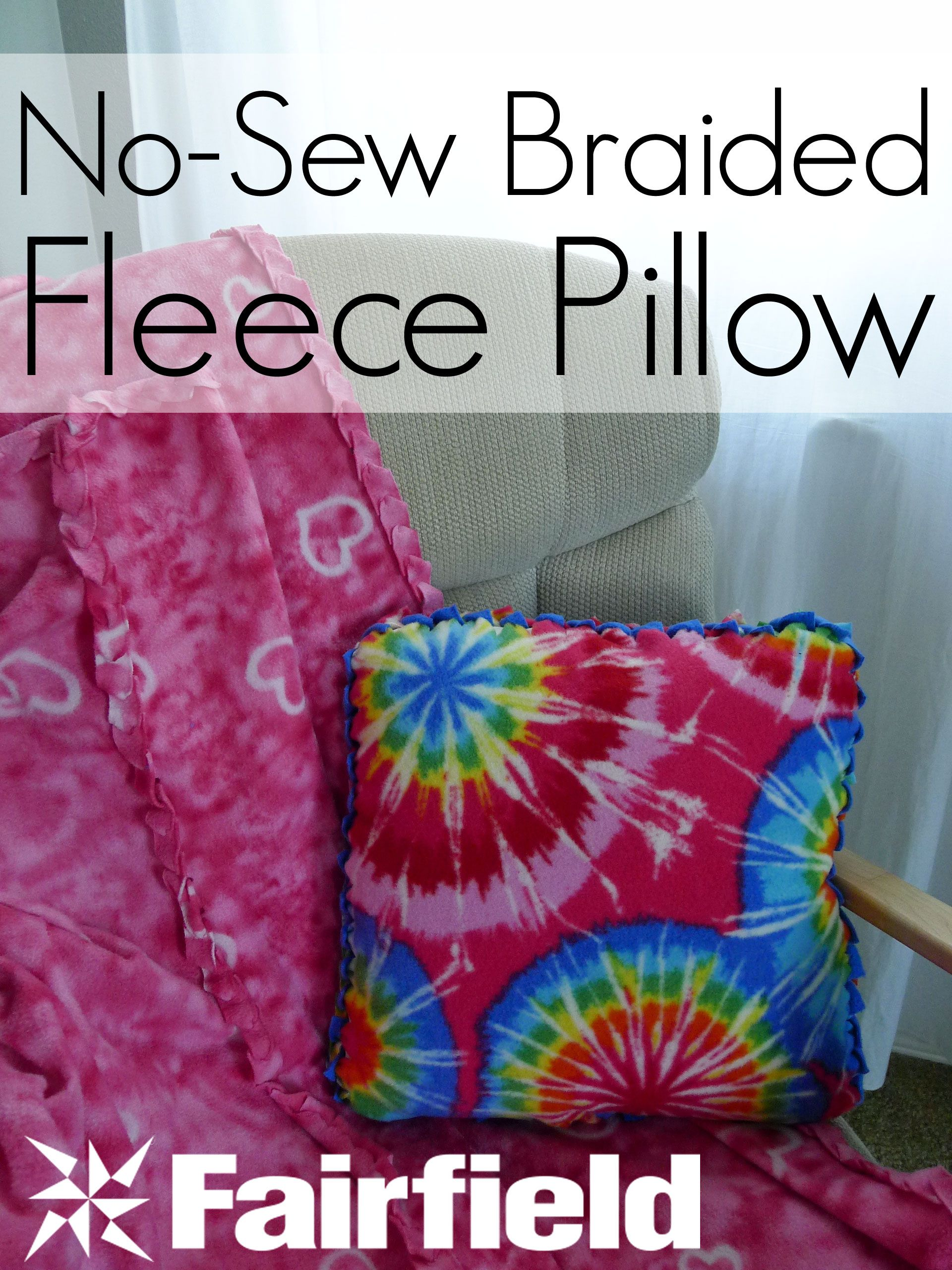 ab9543659f This No-Sew Braided-Edge Fleece Pillow is easy to make. It features a  lovely faux braided look edge that stands out well.