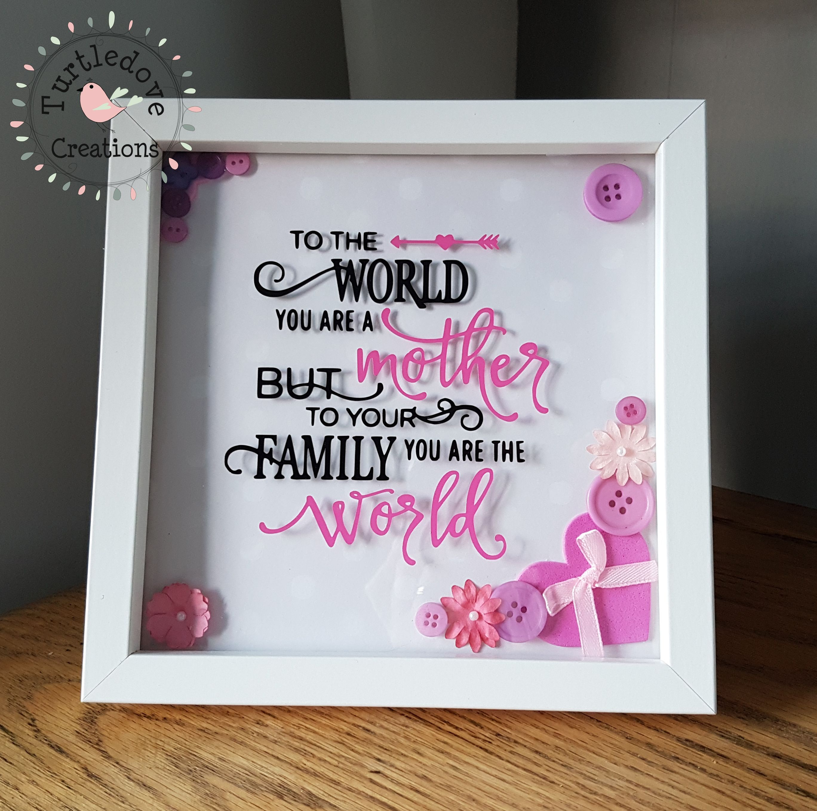 Mothers day frame, to the world you are a mother, mother frame ...