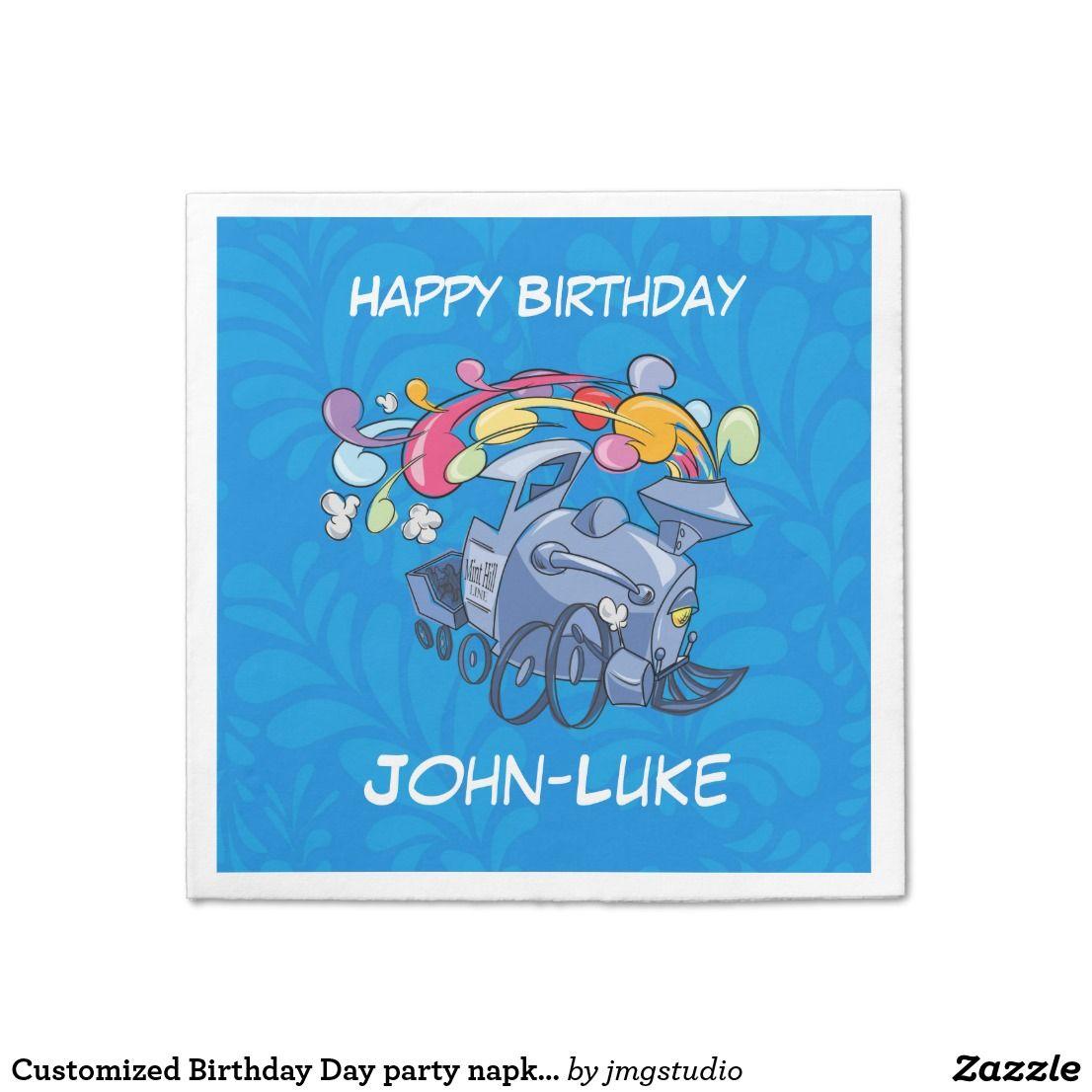 Customized Birthday Day party napkins
