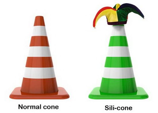 Normal cone vs. sili-cone