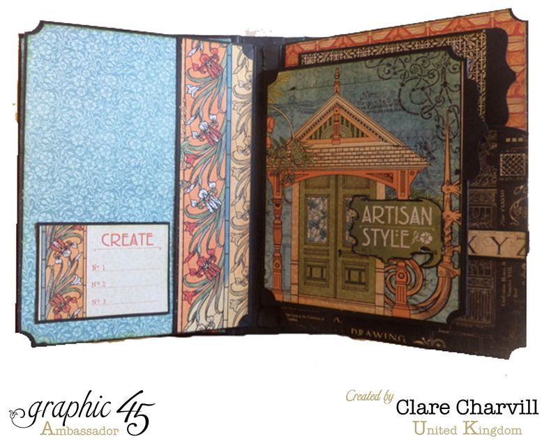 Artisan Style Bureau and Pocket Album 8 Clare Charvill Graphic 45
