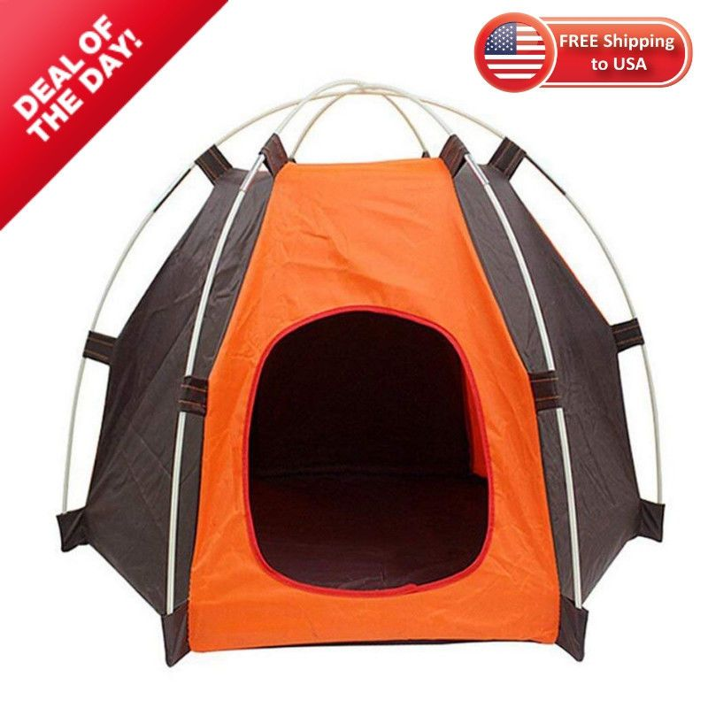 Small Pet Dog Puppy Kennel Portable Indoor Outdoor Waterproof Tent House Shelter #RuiXiang #Sport #xmas #recipes #xmastreedecorations #christmas ...  sc 1 st  Pinterest & Details about Small Pet Cat Dog Tent Outdoor House Kennel Bed Puppy ...