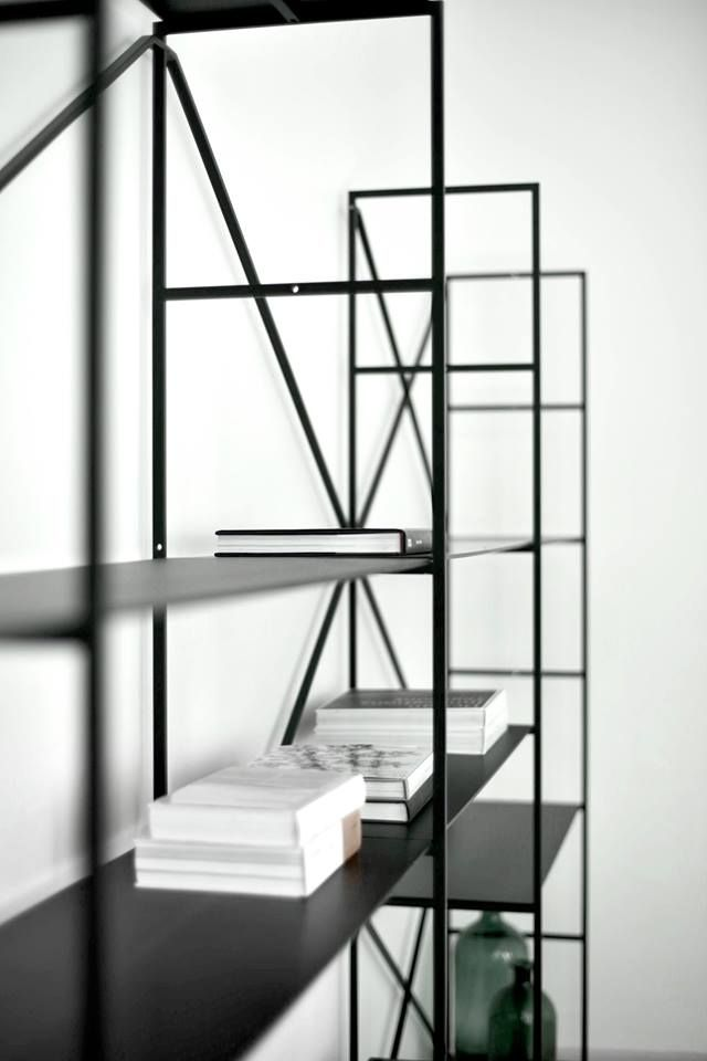 Black Matte Compact Laminate Rig Shelves In The Ma U Studio Showroom Iron Furniture Furniture Design Shop Interiors