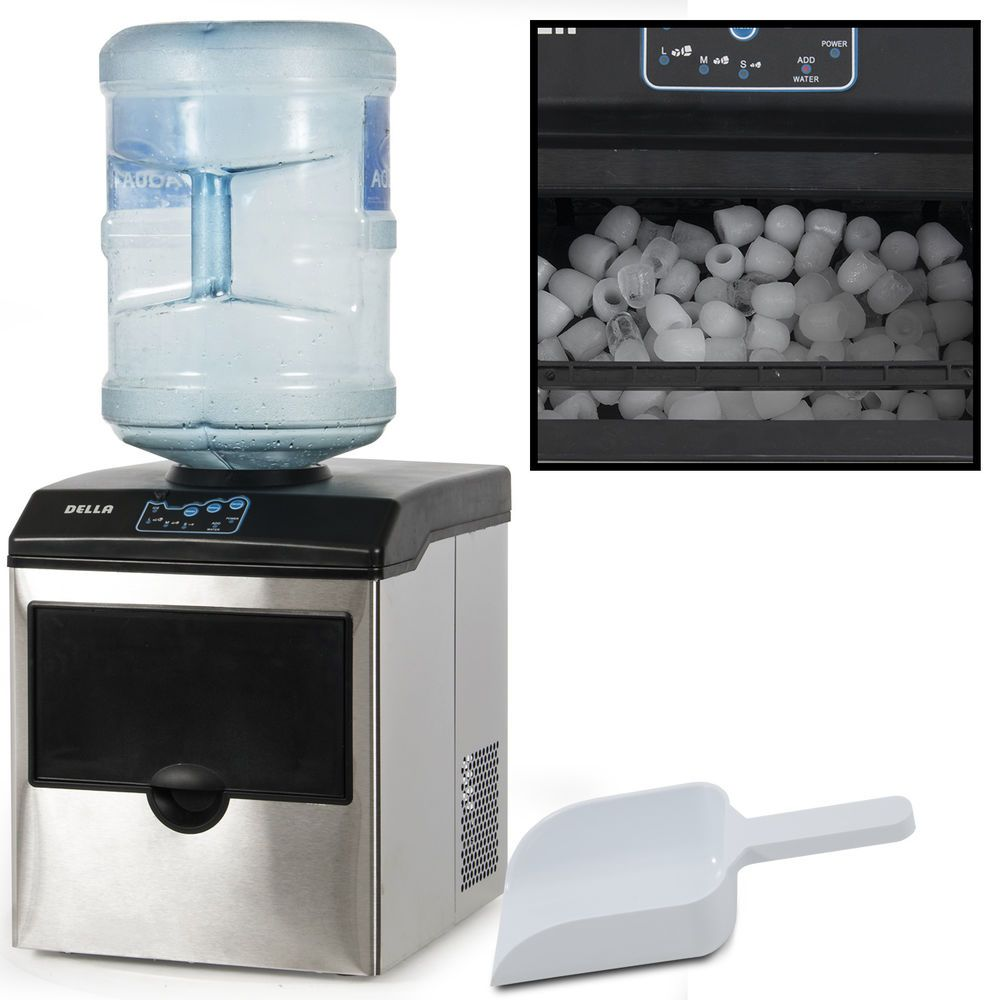 Stainless Steel Water Dispenser W Built In Ice Maker Machine