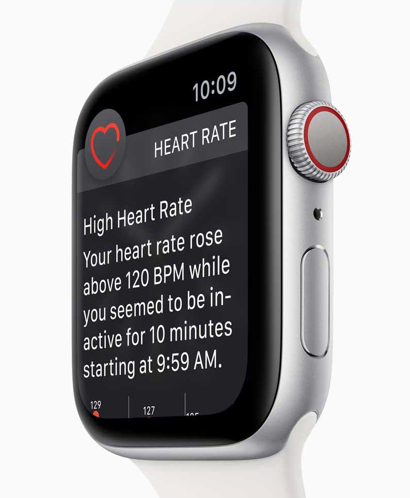 Apple Watch Series 4 Proactive Health Monitor Low and