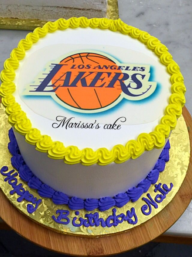 Lakers Birthday Cake Visit Us Facebookmarissascake Or Www