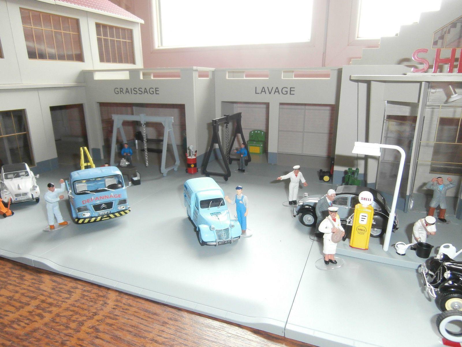garage shell agence citroen garage moderne 1 43e ebay jeu diorama id es de diorama et projet. Black Bedroom Furniture Sets. Home Design Ideas
