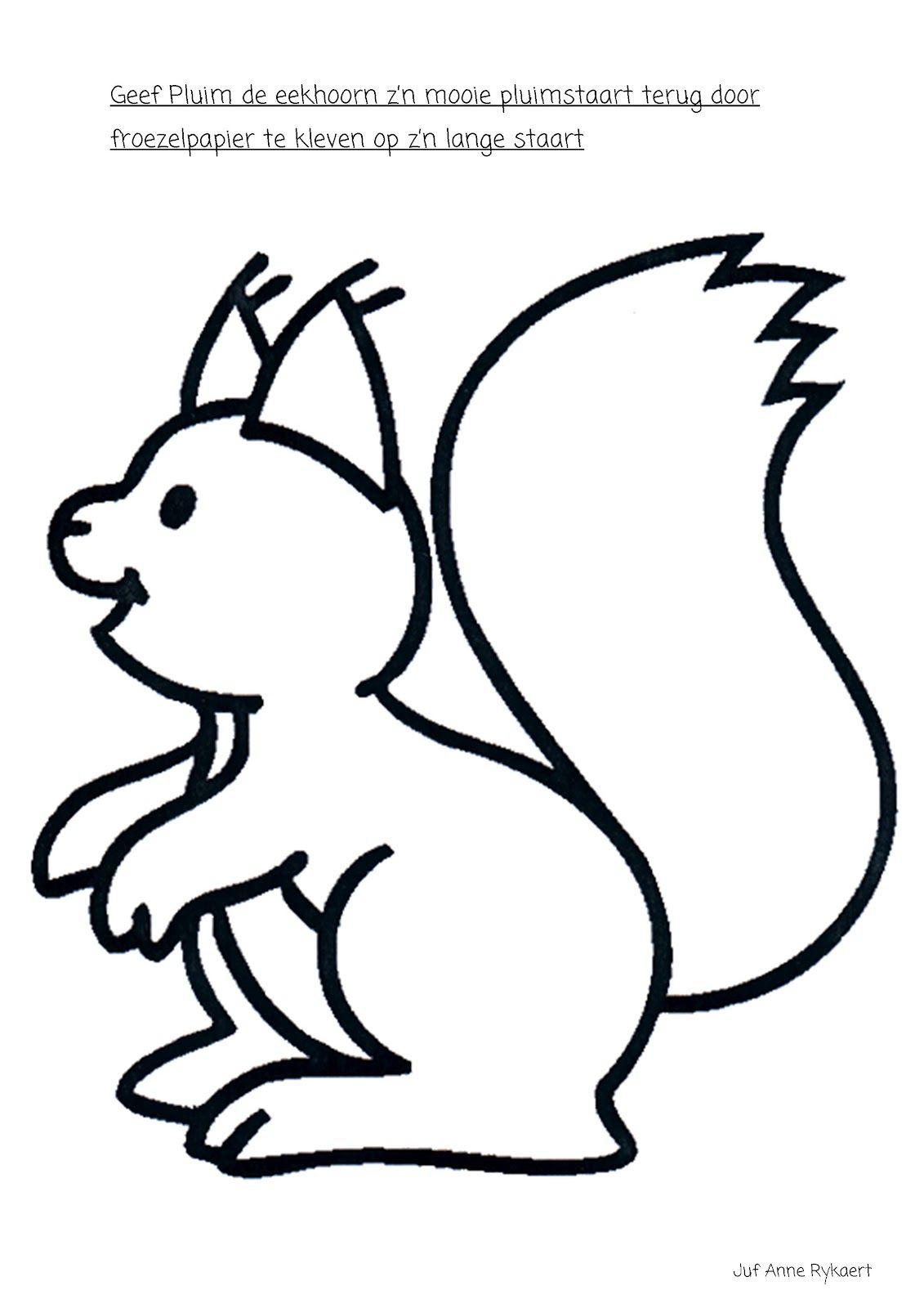 Kleurplaten Eekhoorntjes.Een Pluimstaart Voor De Eekhoorn Herfst Herfst Knutselen