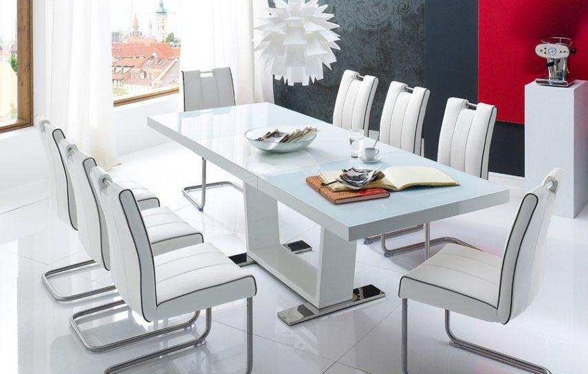 Table De Salle A Manger Blanc Laque Table Salle A Manger Solde In