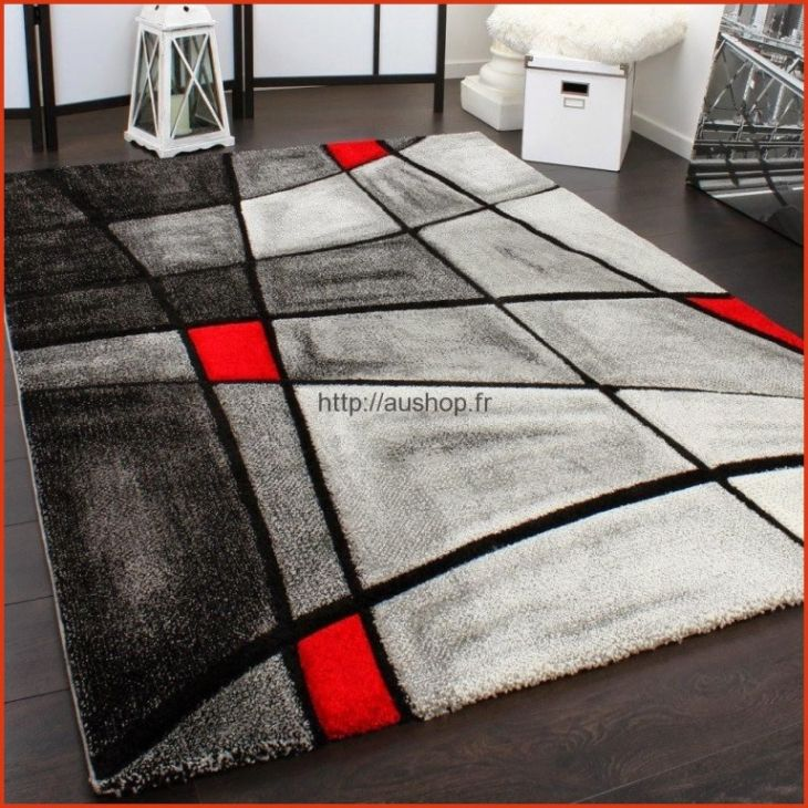 tapis salon tapis gris et blanc tapis