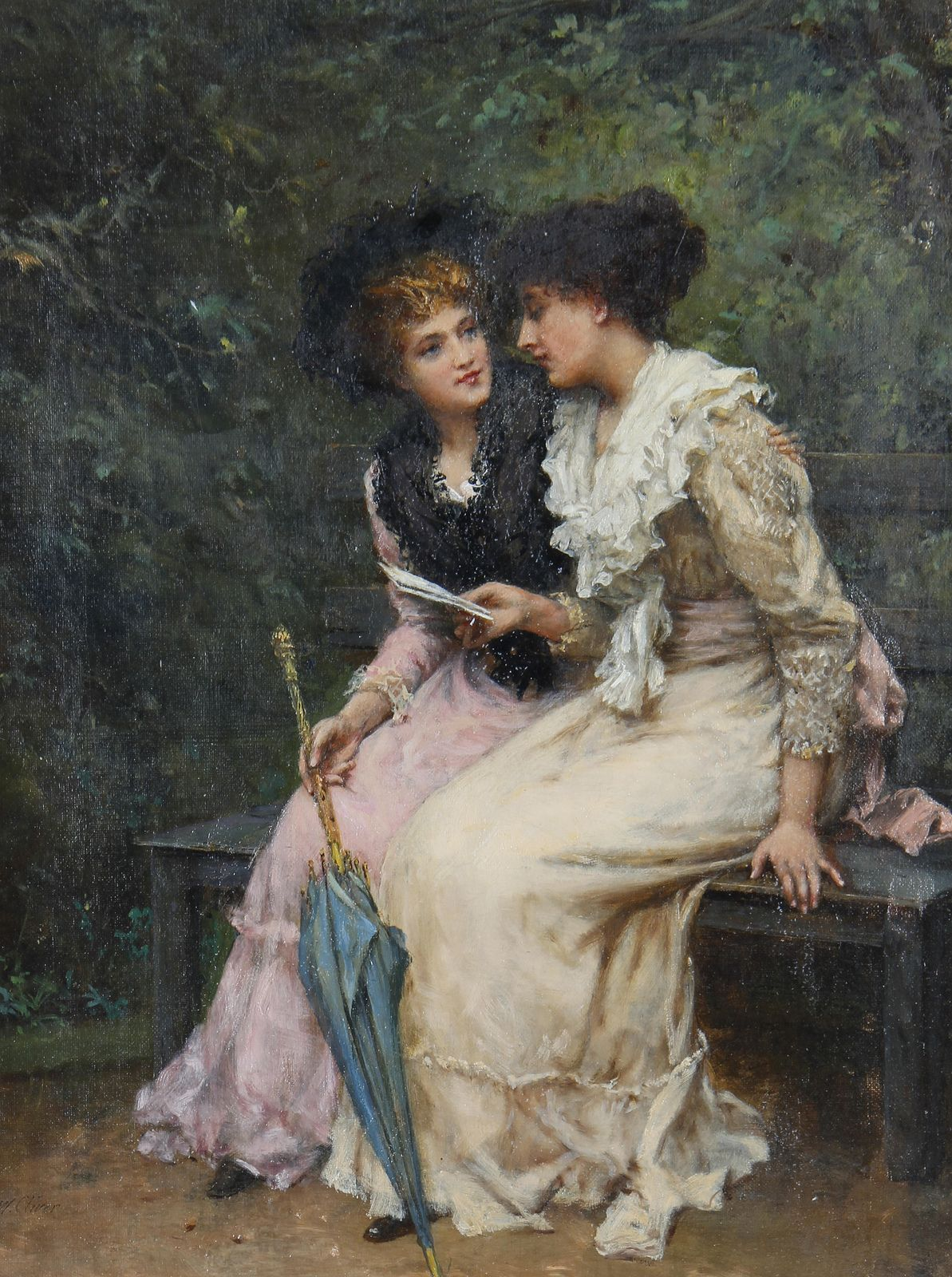 The Letter - William Oliver II (British, 1823-1901). | Art ...
