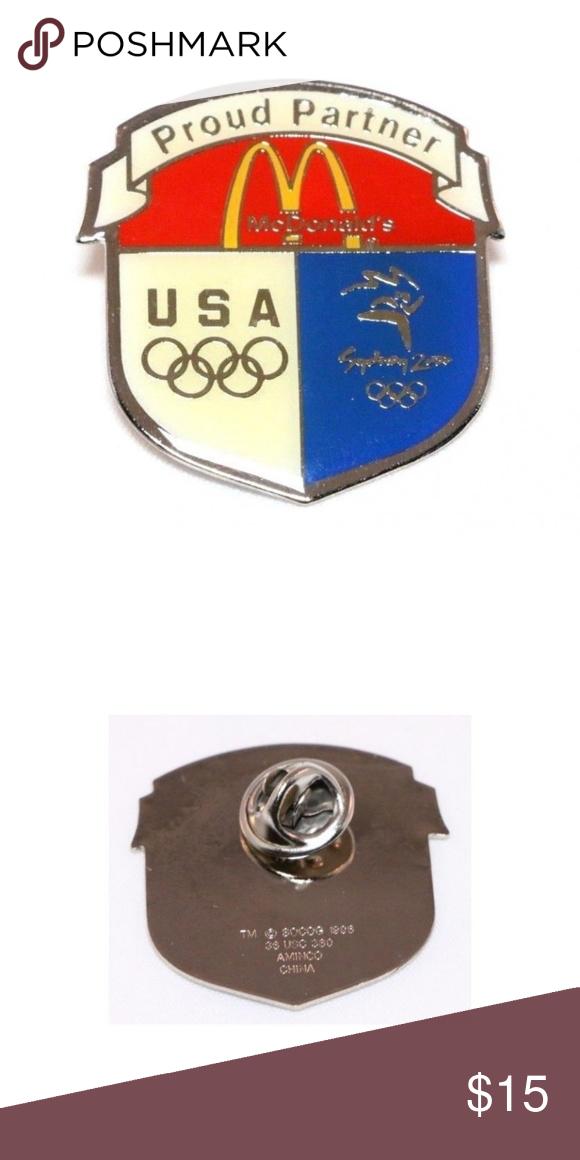 McDonald's 2000 SYDNEY Olympics Crest Lapel Pin McDonald's