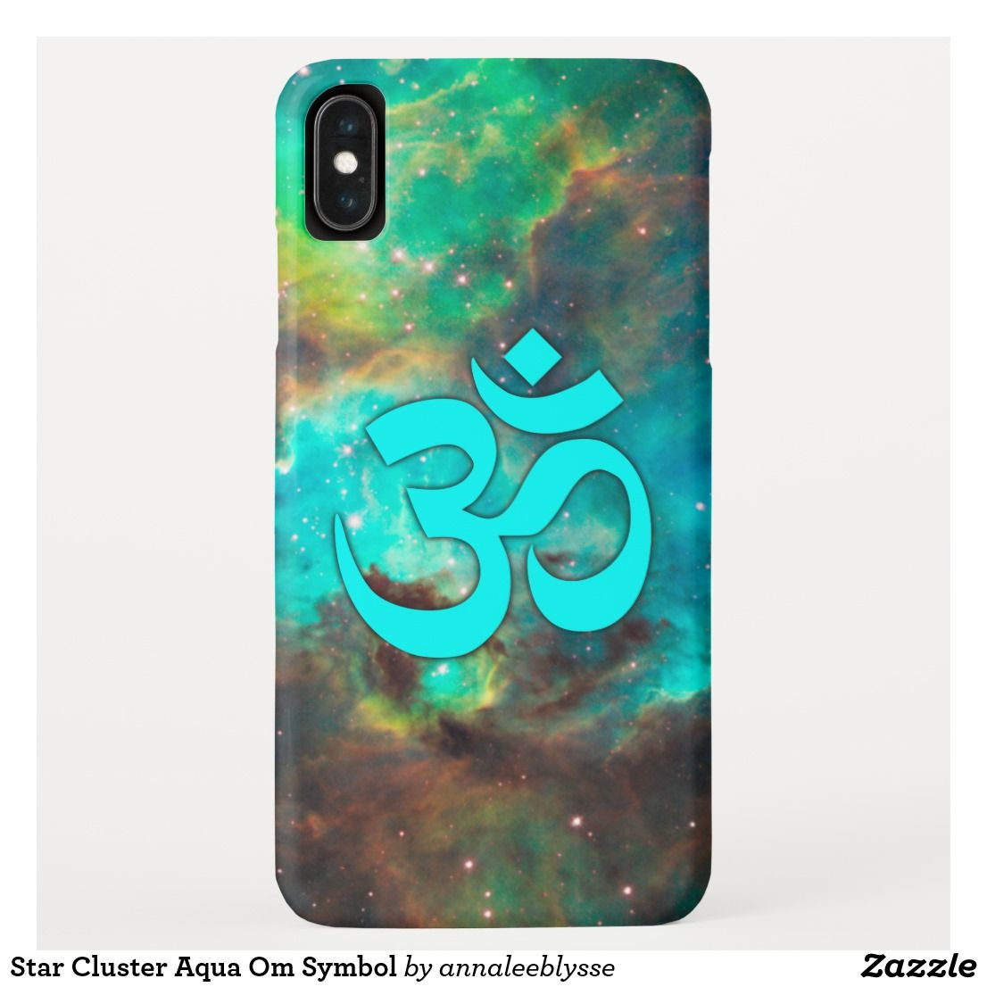 Star Cluster Aqua Om Symbol Iphone Xs Max Case