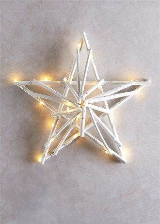 Wooden Light Up Twig Christmas Star Christmas Pinterest