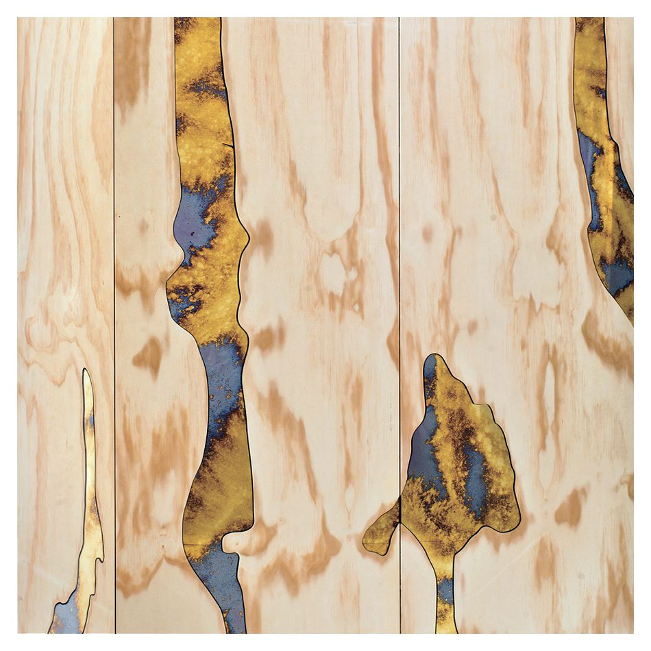 Atelier Biagetti - Triptych collection cabinets, Cabinet III with mirror inlay [detail]