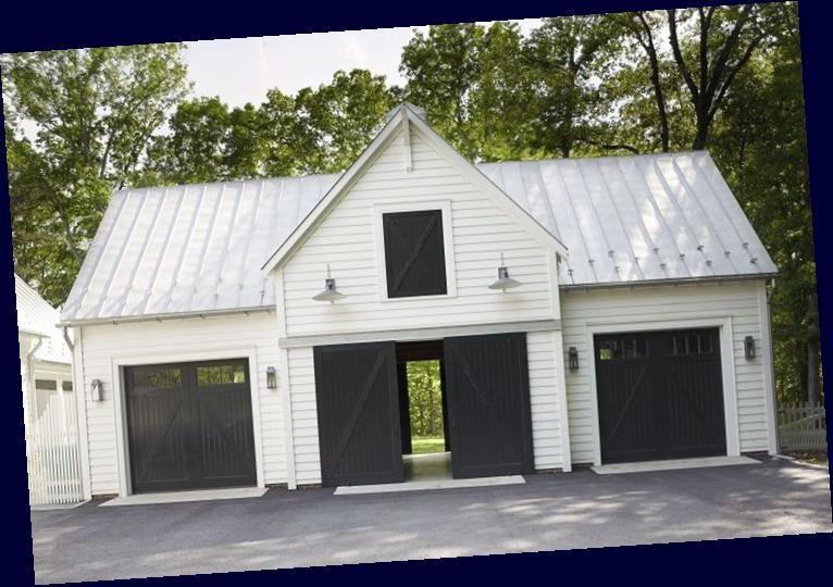 40 Best Detached Garage Model For Your Wonderful House Find More Ideas Farmhouse Detached Garage With Ap In 2020 Garage Makeover Garage Exterior Garage Apartments