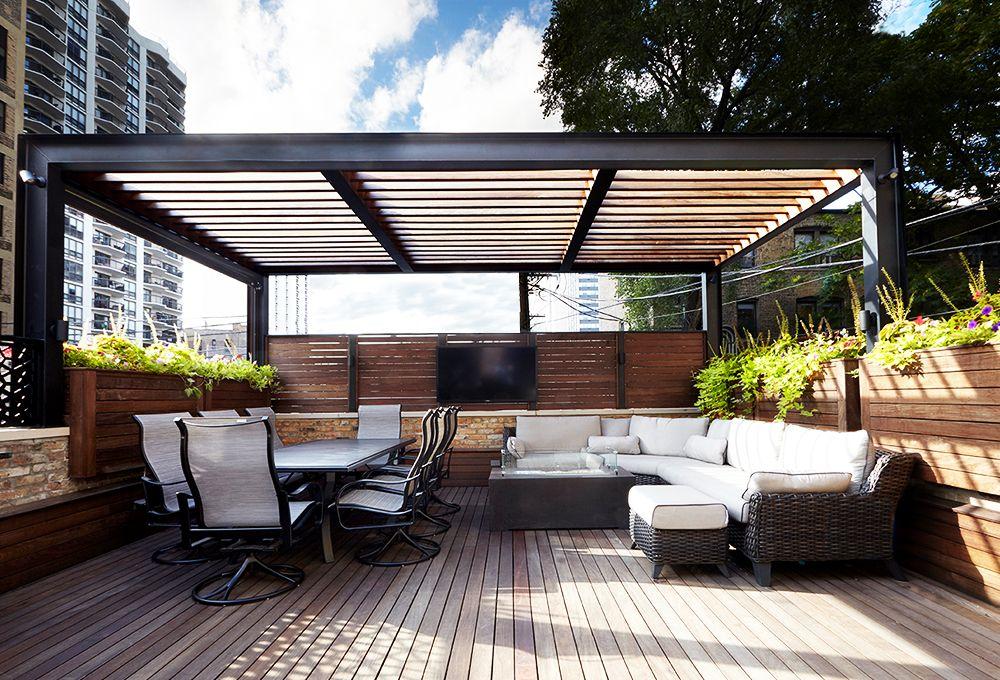 Best Lincoln Park Restoration Home Garage Roof Deck Rooftop 400 x 300
