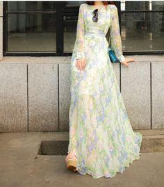 Diy long sleeve maxi dresses