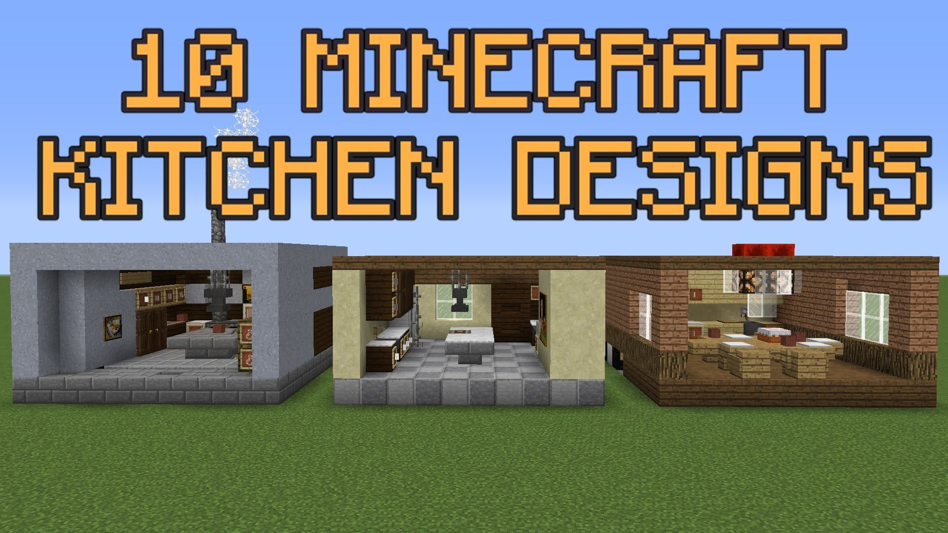 Here Is One Of The Designs Of A Minecraft Kitchen That You