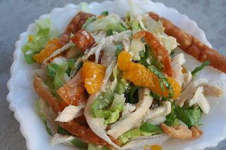 Won Ton Chicken Salad - Oh Sweet Basil