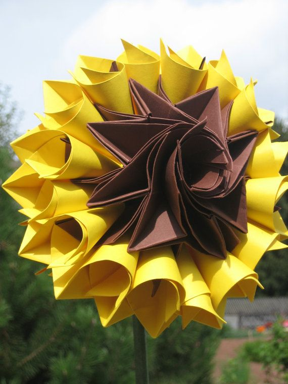 Origami Sunflower 60th Birthday Ideas Pinterest Origami