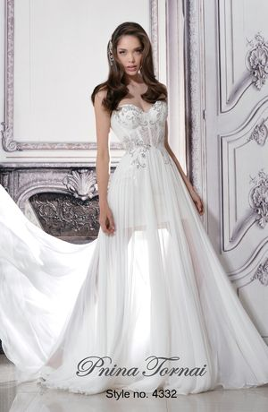 Bridal Gowns: Pnina Tornai A-Line Wedding Dress with Sweetheart ...