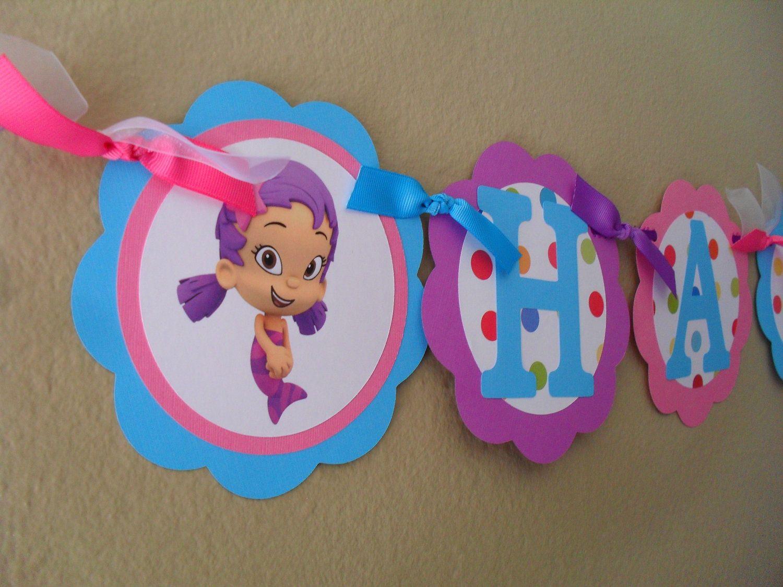 Bubble Guppies Happy Birthday Banner Camilas Second Bday Happy