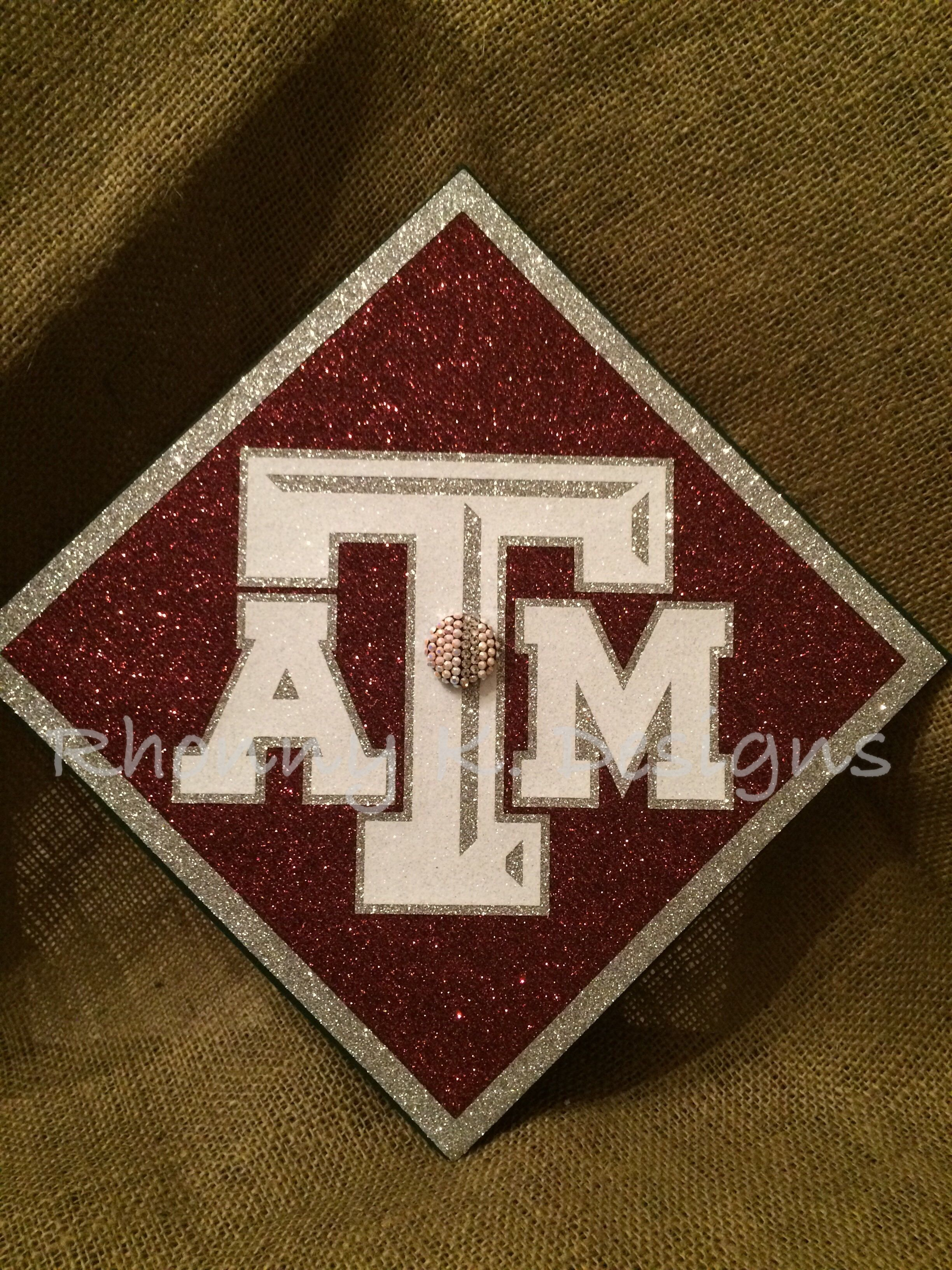 Texas A Amp M Custom Decorated Mortarboard By Rhonny K