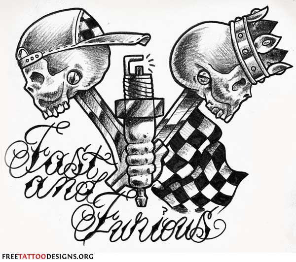 Biker Tattoo: Fast And Furious