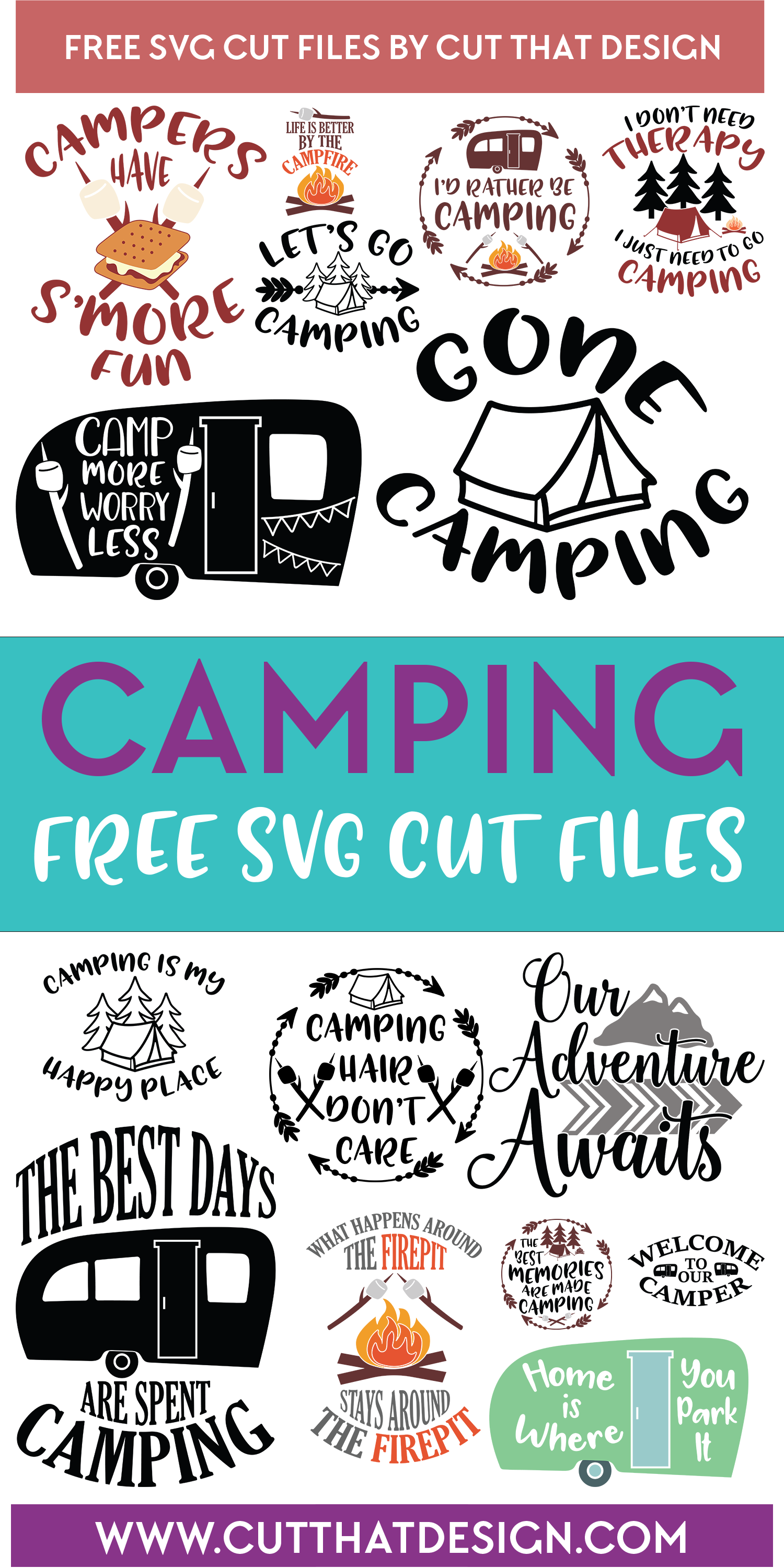Free SVG Files | Camping Archives | Cut That Design