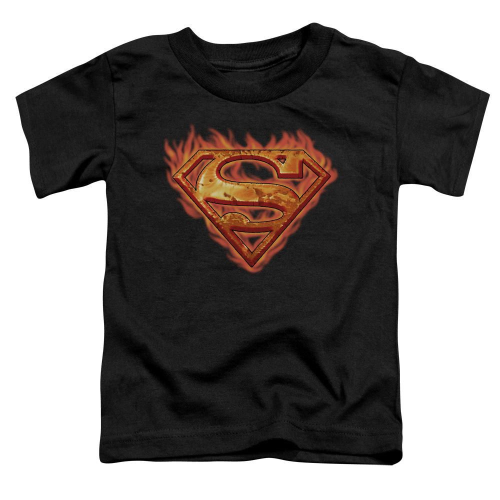 Superman Hot Metal Black Toddler T-Shirt