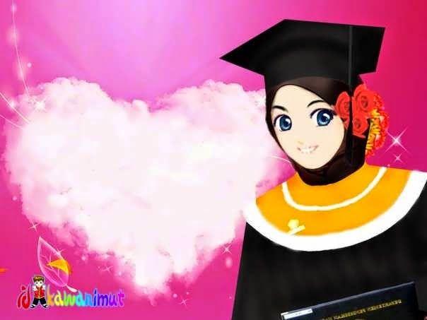 620 Gambar Kartun Muslimah Happy Terbaik