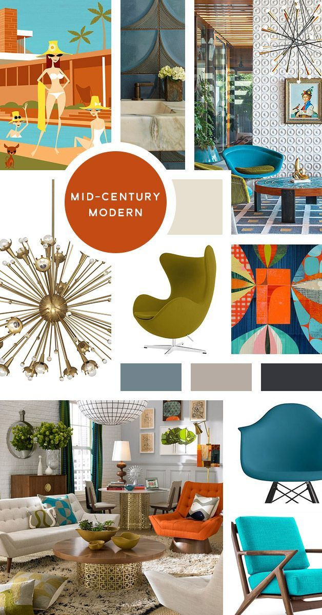 Your Ultimate Guide To Interior Design Styles Mid Century Modern I Like To Ca Mid Century Modern Interior Design Interior Design Mid Century Modern Interiors