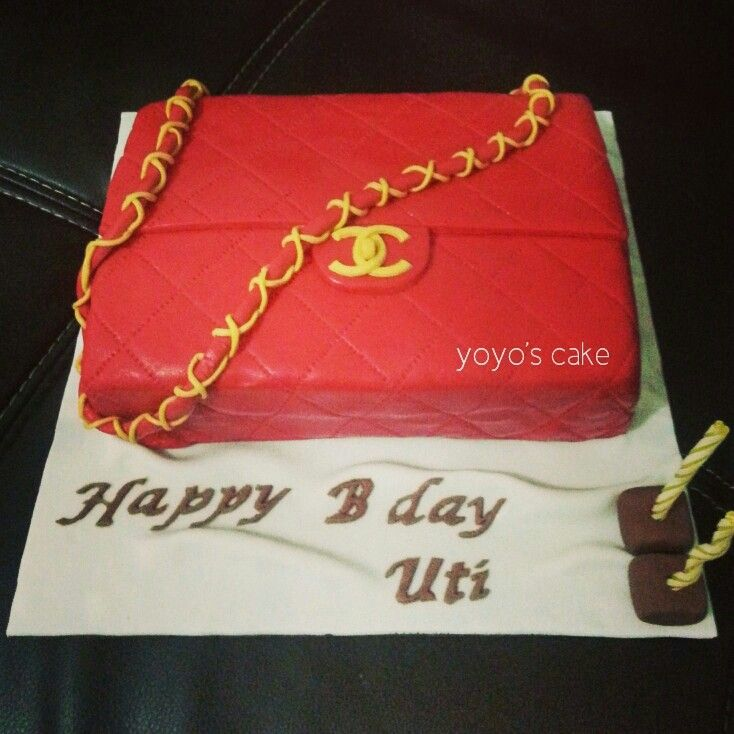 Chanel Classic bag birthday cake by Yoyos Cake Indonesia