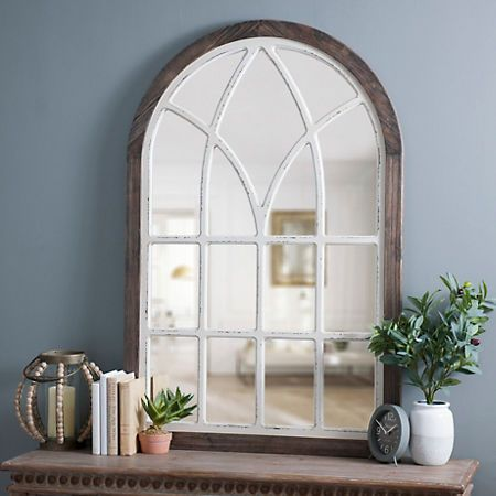 product details vail two tone arch wall mirror in 2019. Black Bedroom Furniture Sets. Home Design Ideas