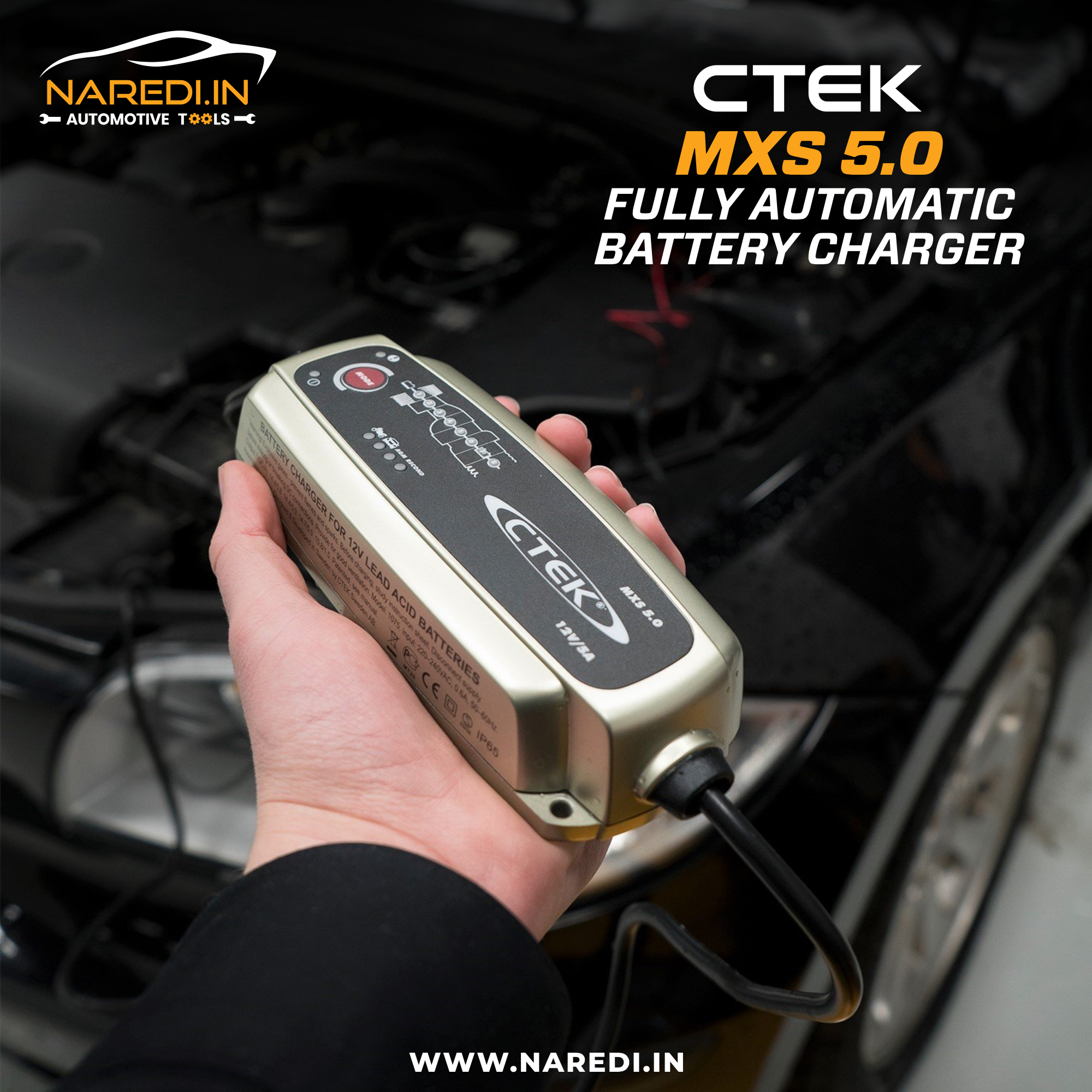 The Ctek Mxs 5 0 Is An Intelligent Battery Charger And Maintainer All In One Compact Shock Pro Automatic Battery Charger Car Battery Charger Battery Charger
