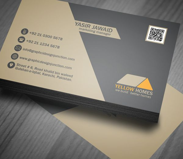 real estate business card psd template freebie on behance 1