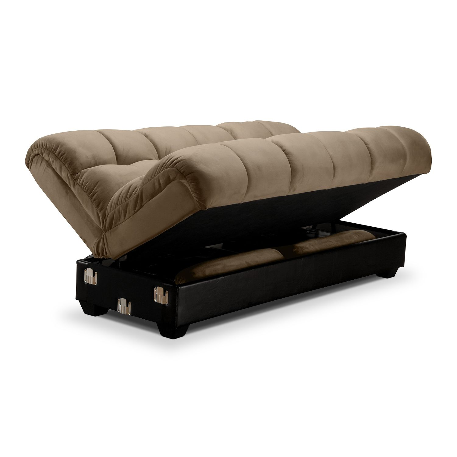 Overawe Futon Sofa Bed With Storage Underneath Futon