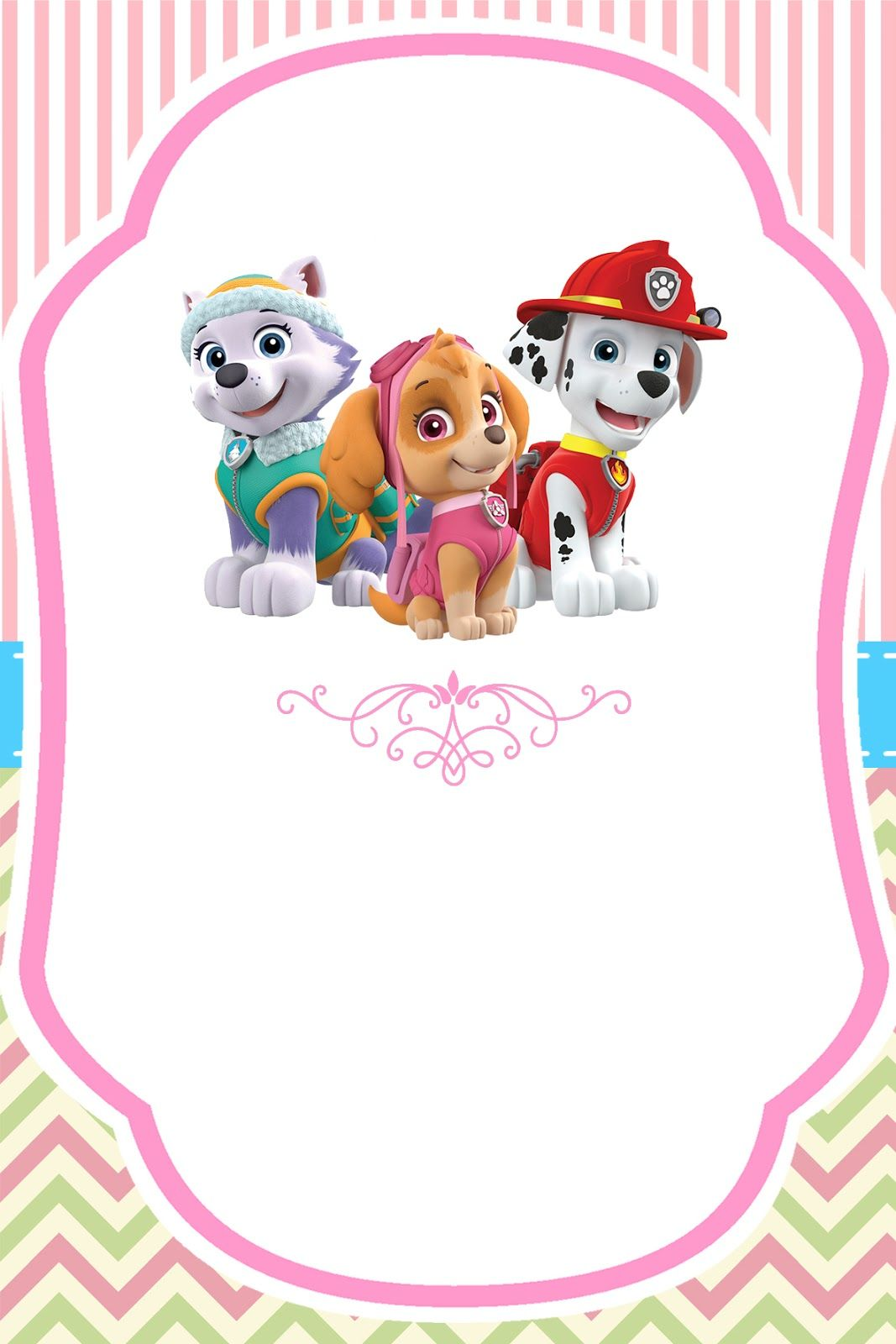 Paw Patrol For Girls Free Printable Kit In 2020 Paw