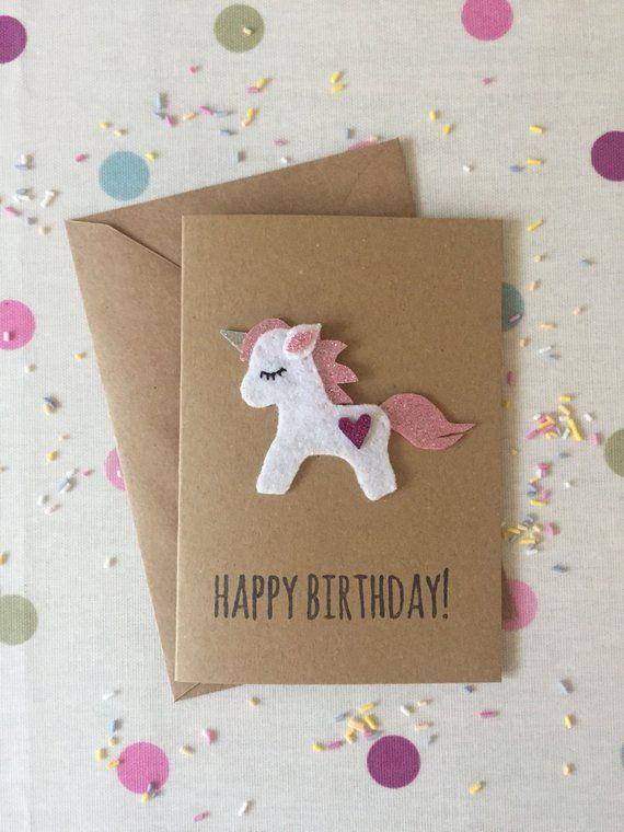 pinart online 2019 on felt cards  unicorn birthday