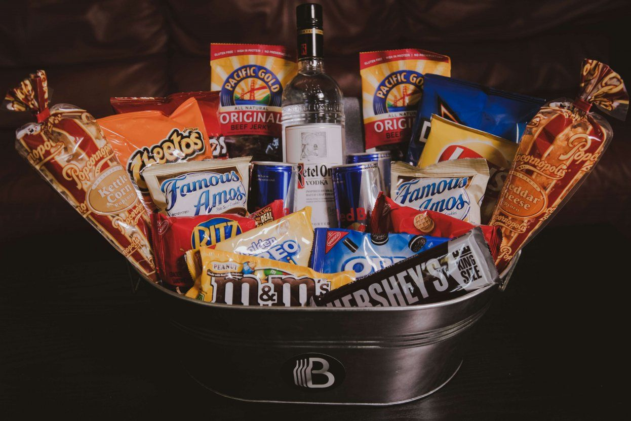 Junk Foodie Party Package | Junk Food Gift | The BroBasket #boyfriendgiftbasket