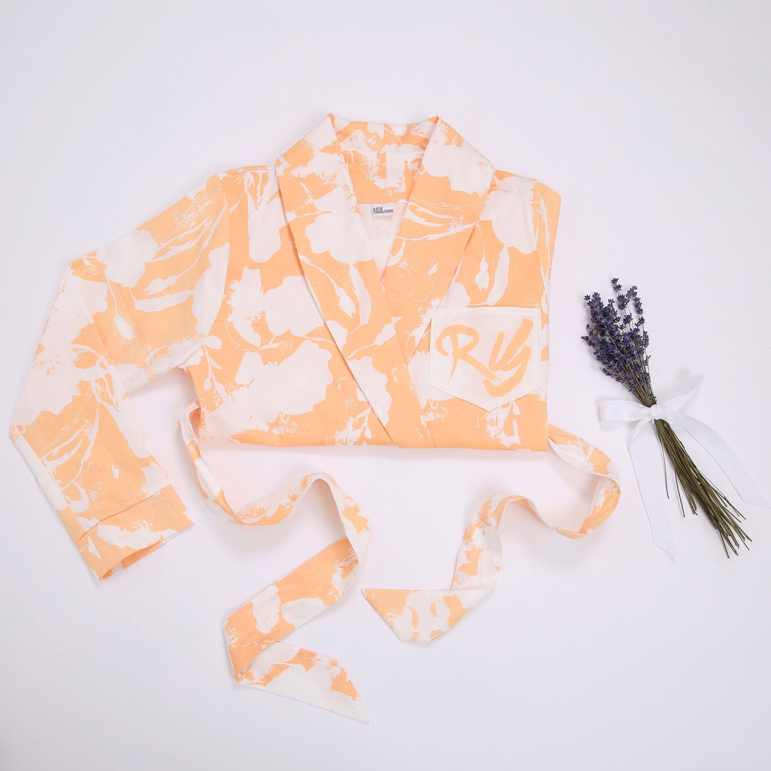 Organic Cotton Dressing Gown- Amata Peach https://katiecharleson.com ...