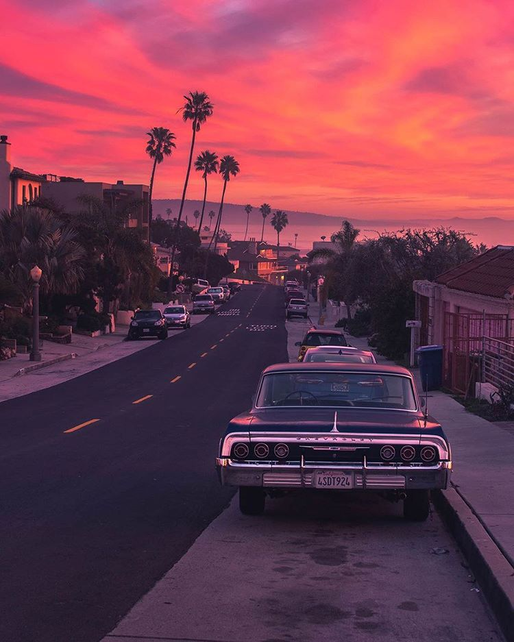 Nature On Instagram The Sky Is On Fire Los Angeles California Photo By Dest0n Nature In 2020 City Aesthetic Sky Aesthetic California Sunset