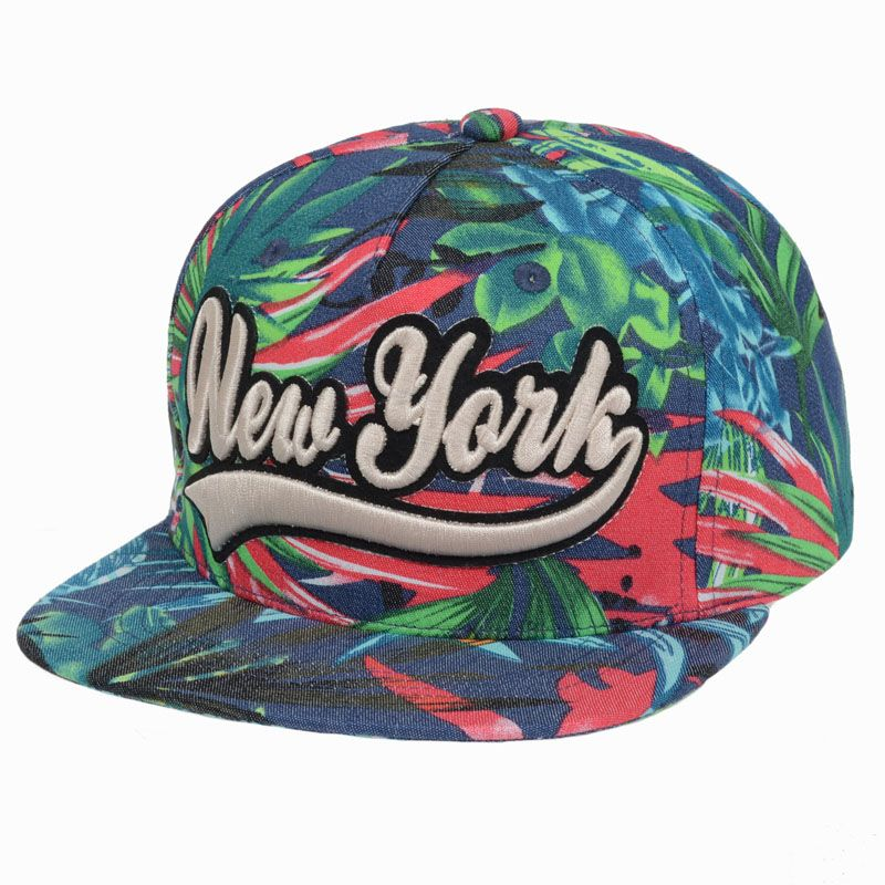 New York Snapback Caps For Men Women Flower Baseball Hat Hiphop Adjustable  Floral Snap Back Cap Adult Basketball Caps fea93c8074