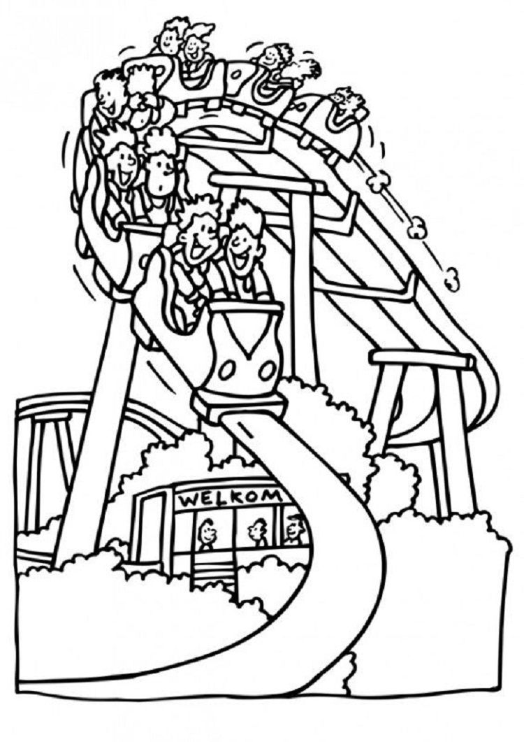 Roller Coaster Carnival Coloring Pages Check more at http ...