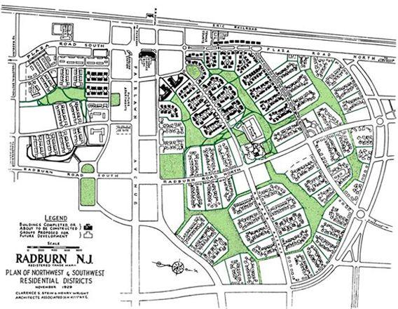 RADBURN, NJ - Based on Garden City and Superblock movement. Designed ...