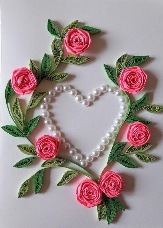 Розы для открытки мастер класс
