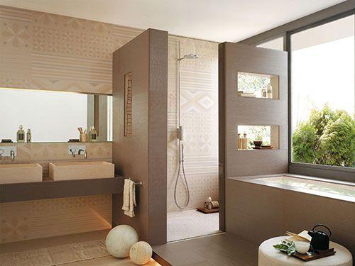 met doorkijk nis?? Neutrale badkamer ontwerpen | Badkamer ...