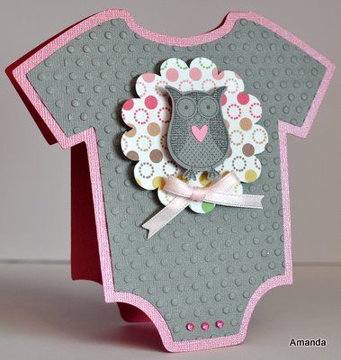 homemade owl craft for baby shower girl Baby Girl Card with